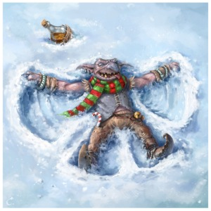 goblin_snow_angel