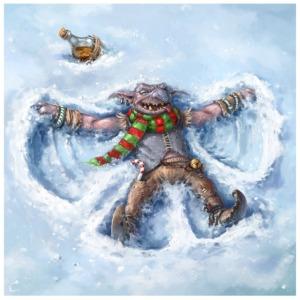 goblin_snow_angel