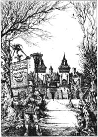 Ian Millers illustration der naturligvis har mere personlighed end den nye udgave.